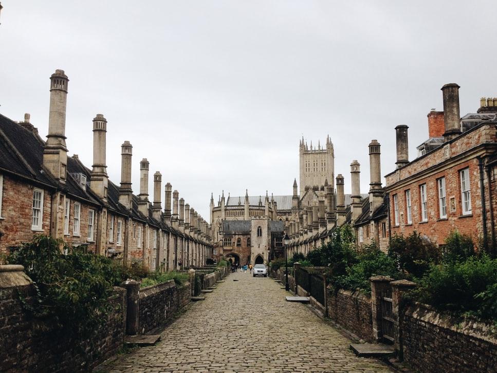 Wells Soerset row of houses