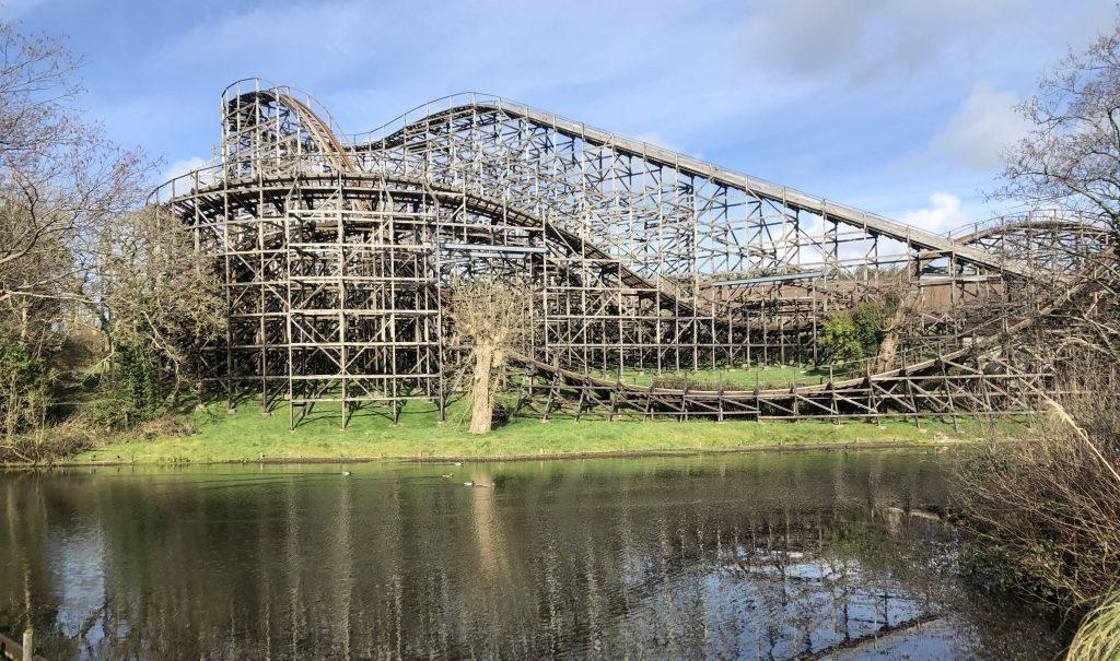 abandonned roller coaster