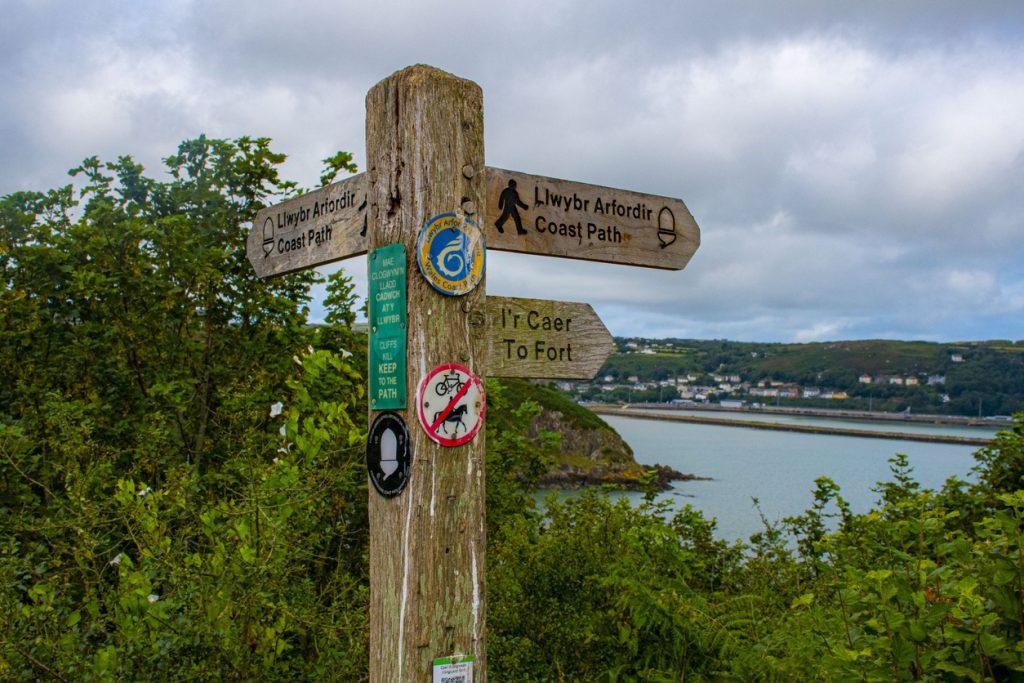 Pembrokeshire coastal path sign post